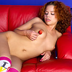 Sweet Red-haired Teeny Enjoys Ripe Strawberries In The Most Erotic And Depraved Ways Possible - Picture 13