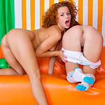 Curious Teens Explore Lesbian Sex Licking Pussies And Sharing A Big Double-headed Dildo - Picture 7